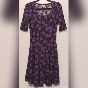LulaRoe Nicole Simply Comfortable Floral Dress